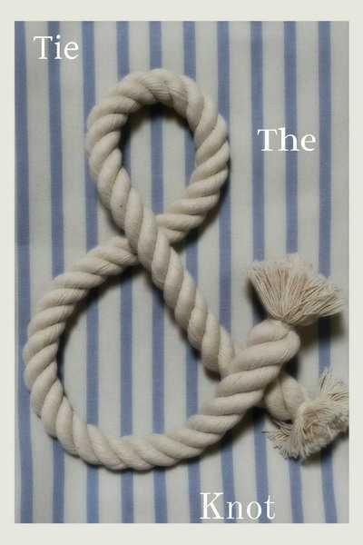 wall decoration made with nautical rope