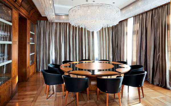 breathtaking interior design and decor in luxurious apartment in moscowdesigner dining furniture and large crystal chandelier