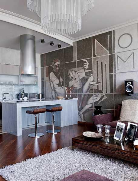 Bear Skin Rug And Fireplace Modern Interior Design...