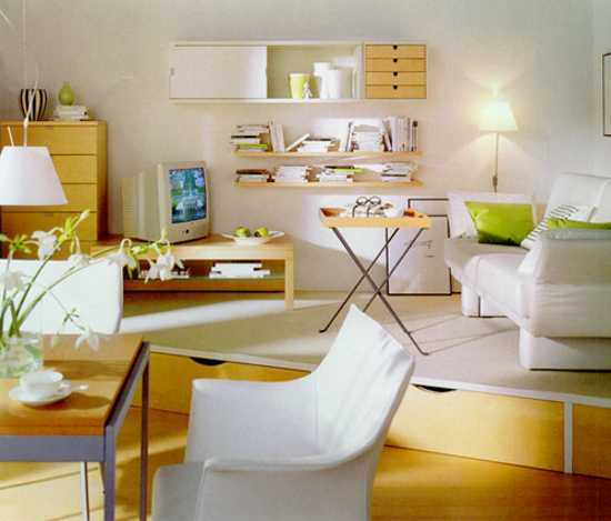 Space Saving Floor Storage For Small Rooms, Modern Interior Design With A  Raised Floor
