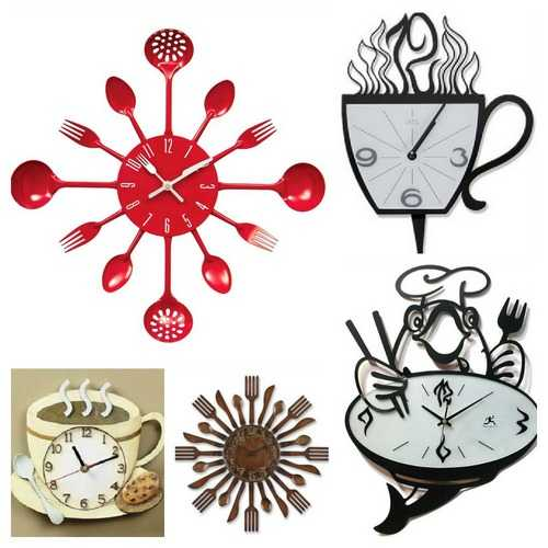 33 Ways To Add Modern Wall Clock To Kitchen Decor And Cure Boring