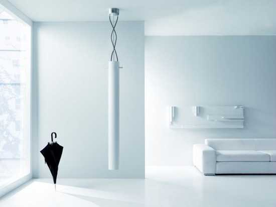 Hanging From Ceiling Room Heater In White, Unusual And Exciting Modern Interior  Design Ideas