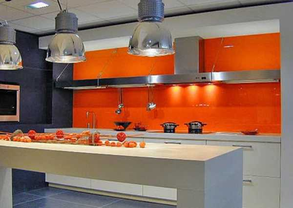Bright Orange Color Accents Paint For Creating Wall Stripe And Lighting