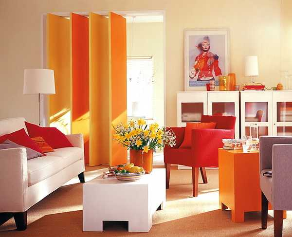 Modern Interior Design Ideas Celebrating Bright Orange