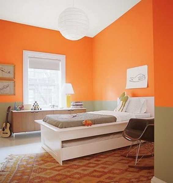 Beautiful Gorgeous Modern Garden Concept Idea With Bright: Modern Interior Design Ideas Celebrating Bright Orange