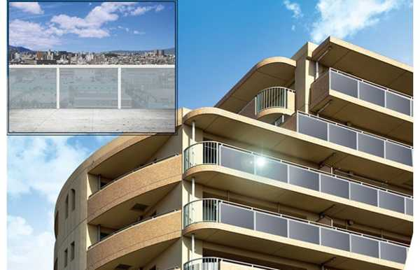 see through solar panels for apartment balconies