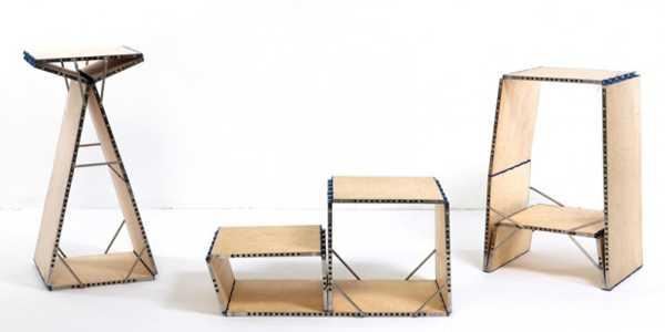 Multifunctional Board Loop Transforms Into 9 Unique Furniture Pieces