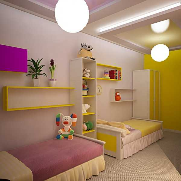 Great Interior Design Ideas · Kids Rooms. Boy And Girl Children Bedroom In Two  Colors