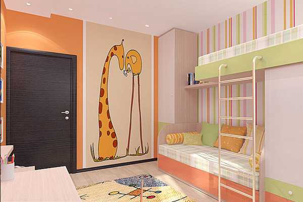 7 Inspiring Kid Room Color Options For Your Little Ones: Kids Room Decorating Ideas For Young Boy And Girl Sharing