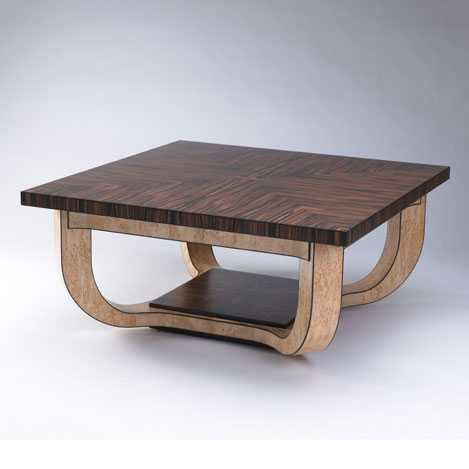 sculptural wood coffee table