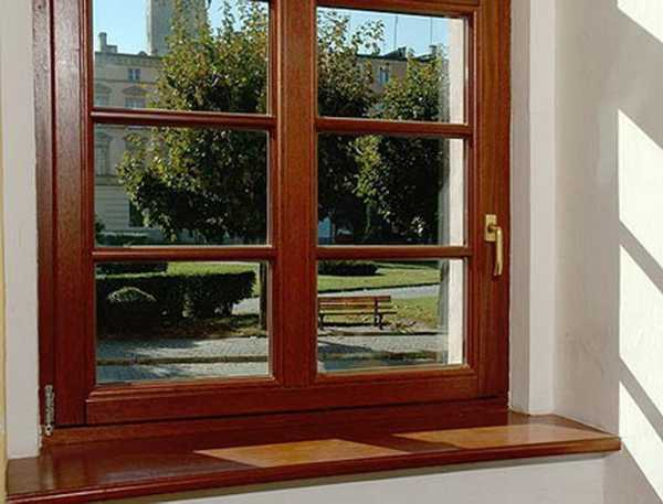 Wood Window Frame And Sill