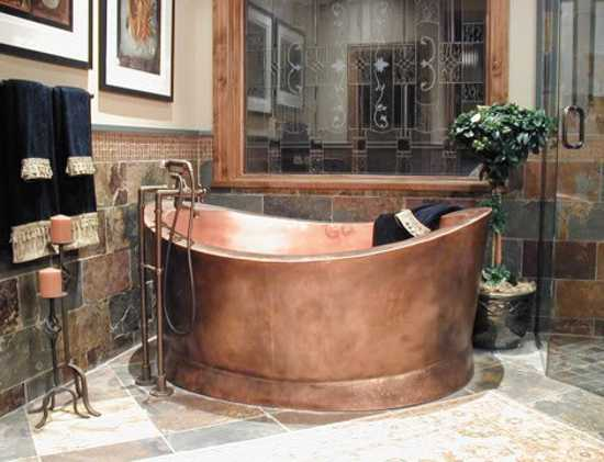 Copper Bathtubs Add Exquisite Aquatic Vessels In Vintage