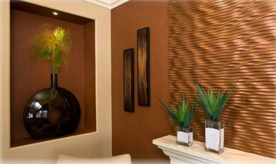 Copper Metal Tiles And Wall Decoration For Modern Interior Design And Decor