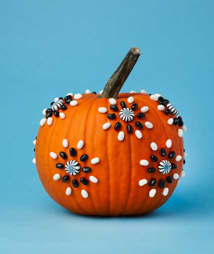 pumpkin decorated with beads