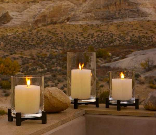 modern interior design and decor, rocks and candles