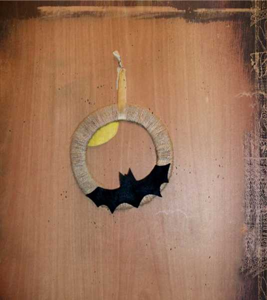 door wreaths with bats