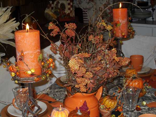 Colorful Fall Table Decoration Halloween Party Decorations