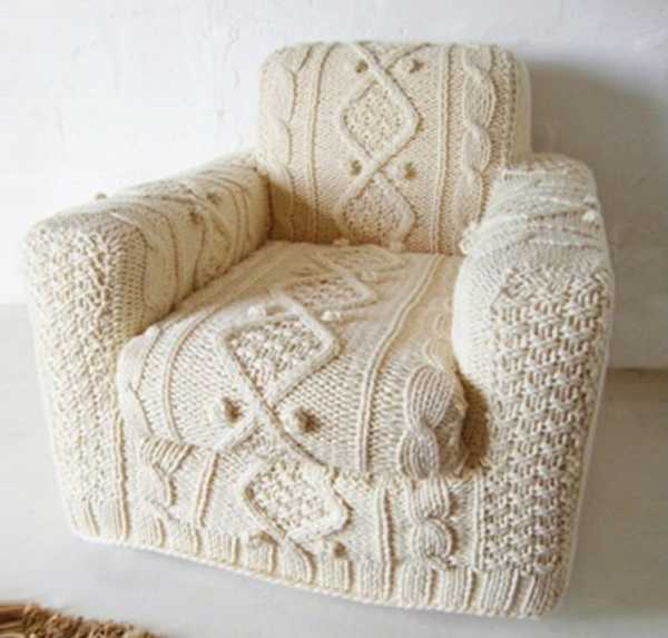 Admirable 30 Knitted Furniture Covers And Decorative Accessories Uwap Interior Chair Design Uwaporg
