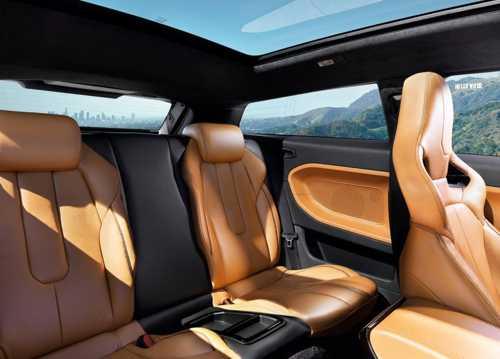 back seats, sunroof in modern car interior design
