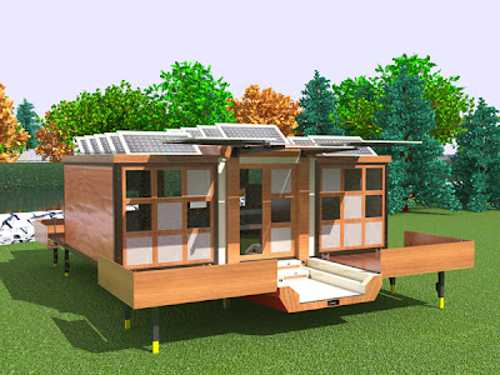 Modern mobile home design featuring folding structure for Modern mobel design