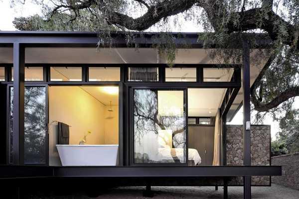 modern house design blending stone steel and wood into modernist rh lushome com