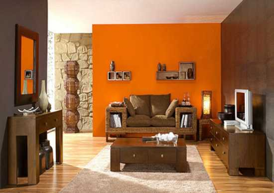 40 Modern Interior Design Ideas Blending Brown And Orange Colors Unique Brown And Orange Bedroom Ideas