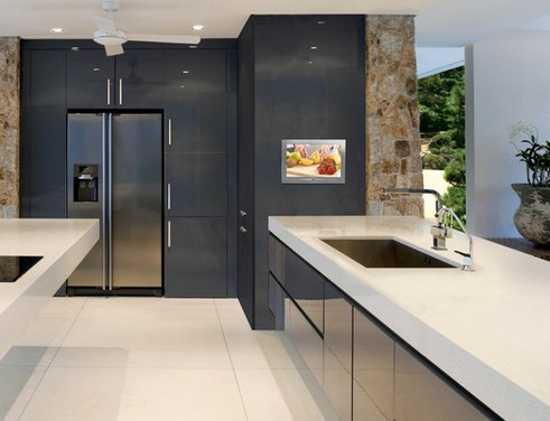 7 Modern Kitchen Design Trends Stylishly Incorporating Tv Sets Into Kitchen Interiors