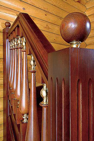 Wood Staircase Design, Carved Wood Stair Railing