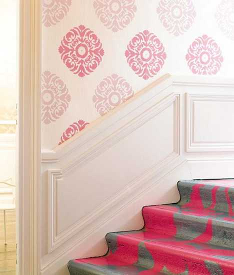 Interior Decorating With Stencils Is An Economical, Artistic And Exciting.  Modern Stencils, Combined With Some Patience And Effort, Dramatically  Redesign ...