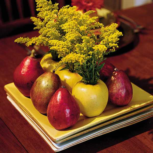 apples and pears floral arrangement