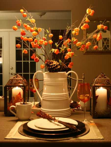 Beau Wheat Spikelets Centerpiece For Thanksgiving Table Decorating