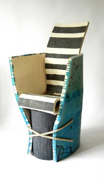 felt and rubber designer chair