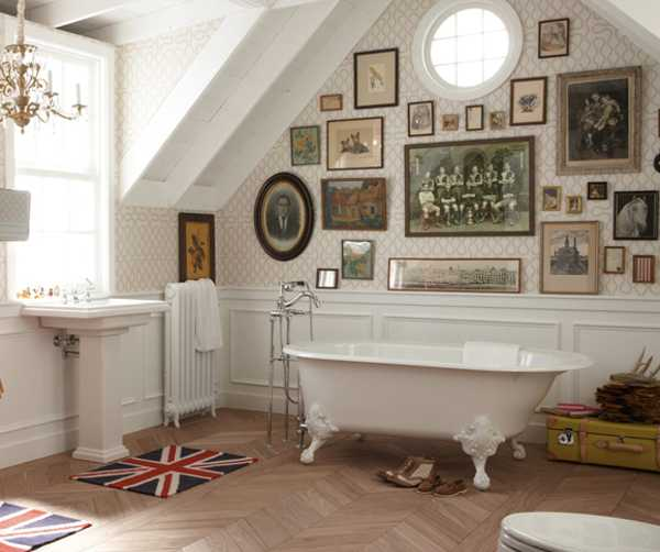 Free Standing Bathtub, White Claw Foot Tub In Vintage Style
