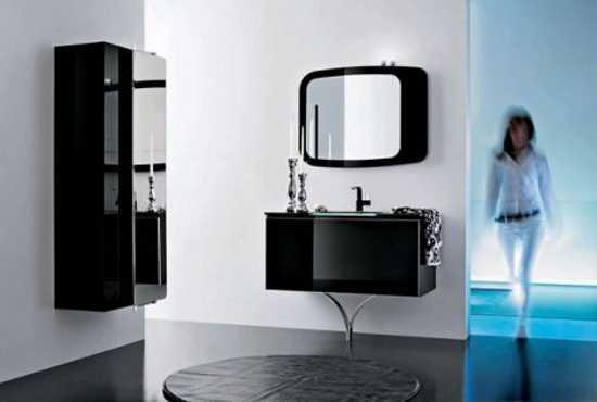 black bathroom furniture, vanities and mirror cabinets