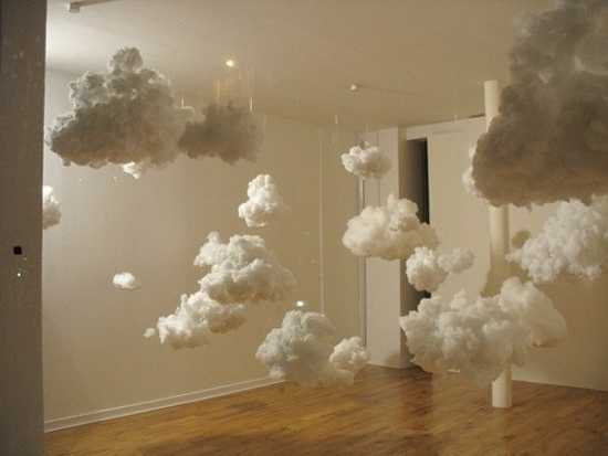 winter decoration ideas, making clouds