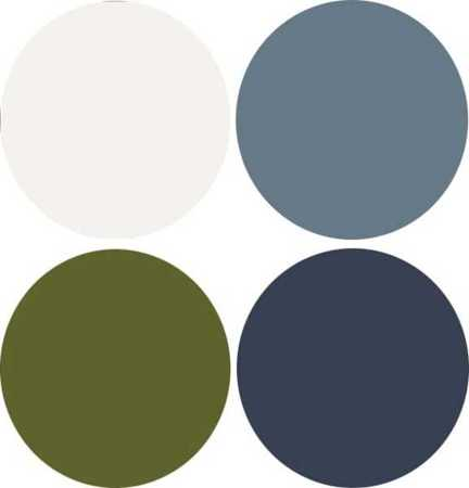 Dark Blue And Green Colors Combined With White Bluish Gray Color Shades