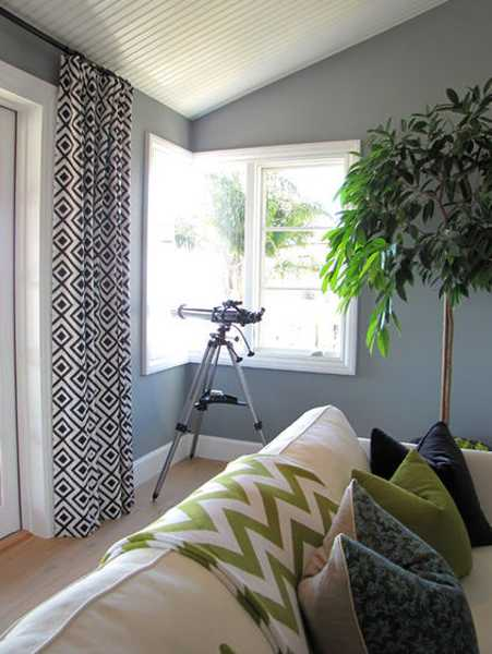 blue and green colors with gray interior paint