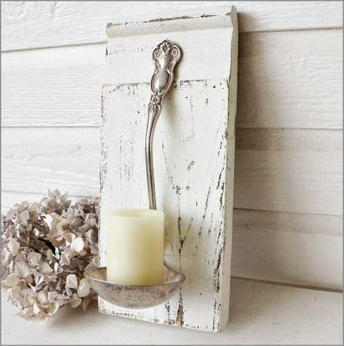 Handmade Candle Holder, Creative Reuse And Recycle Ideas For Unique  Interior Decorating In Vintage Style