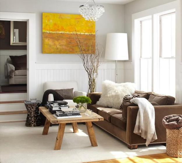 Fall Ideas For Living Room Makeover, Natural Soft Textures And Warm Room  Colors