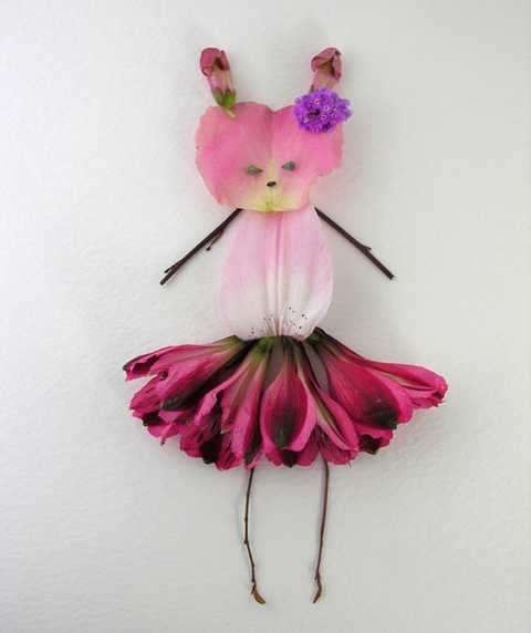 floral arrangement with pink petals
