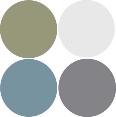 Medium Gray Color With Grayish Blue And Green Colors