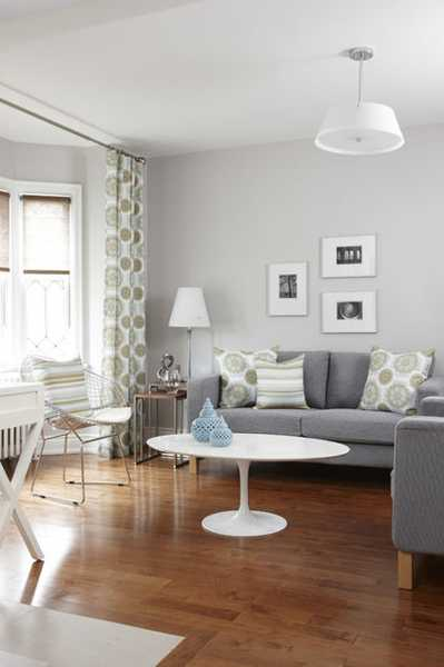 Modern Living Room Design Decor And Interior Paint Color Scheme With Greenish Bluish Gray Tones