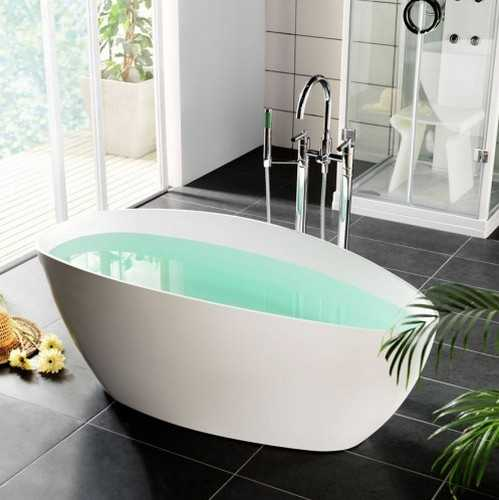 Contemporary Bathtub And Floor Mounted Faucet Design, Modern Bathroom  Remodeling Ideas
