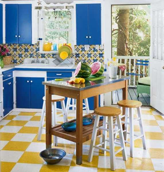 Purple And Yellow Kitchen Wall Art Unframed Kitchen: 16 Ideas Bringing Bright Room Colors Into Modern Interior