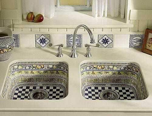 Awesome Unique Kitchen Sink And Backsplash Tile Designs