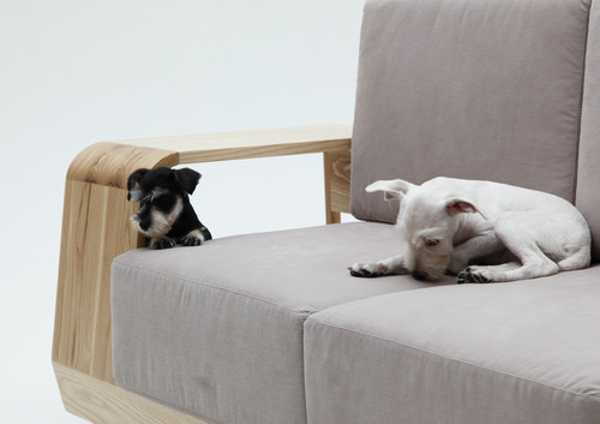 Modern Sofa Design with Indoor Dog House Keeps Pets and ... - photo#15