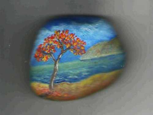 Enhancing fall decorating ideas with fall leaves painted - Painting rocks for garden what kind of paint ...