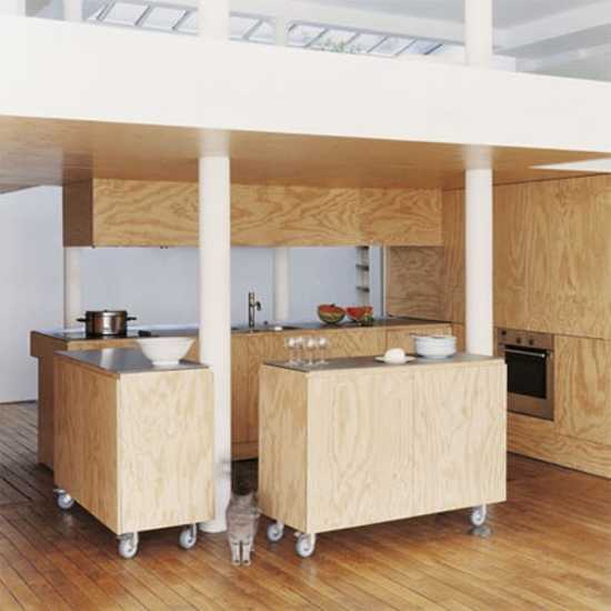 Modern Interior Design And Decorating With Plywood Appeal