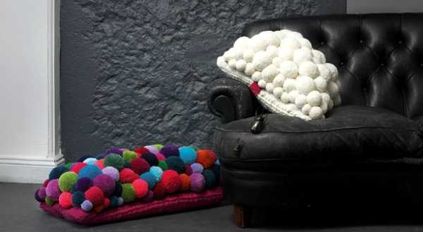 home decor accessories made with pompons