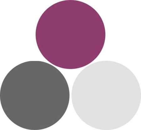 Wild Rose Deep Purplish Pink Dark And Light Gray Color Combination